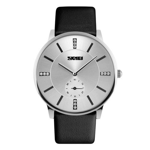 reloj skmei 1147 moderno - elegante - cuero - garantía