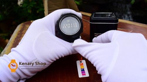 reloj skmei 1251 en estuche metálico sumergible 50 mt 1250