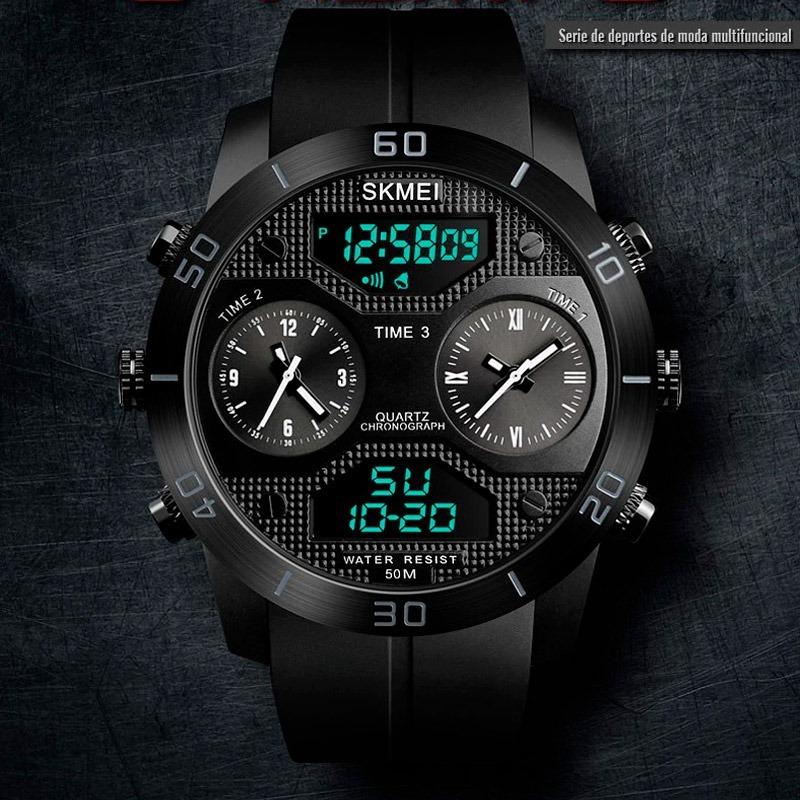 64e4f43b7613 reloj skmei 1355 digital analógico moda acuático cronómetro. Cargando zoom.