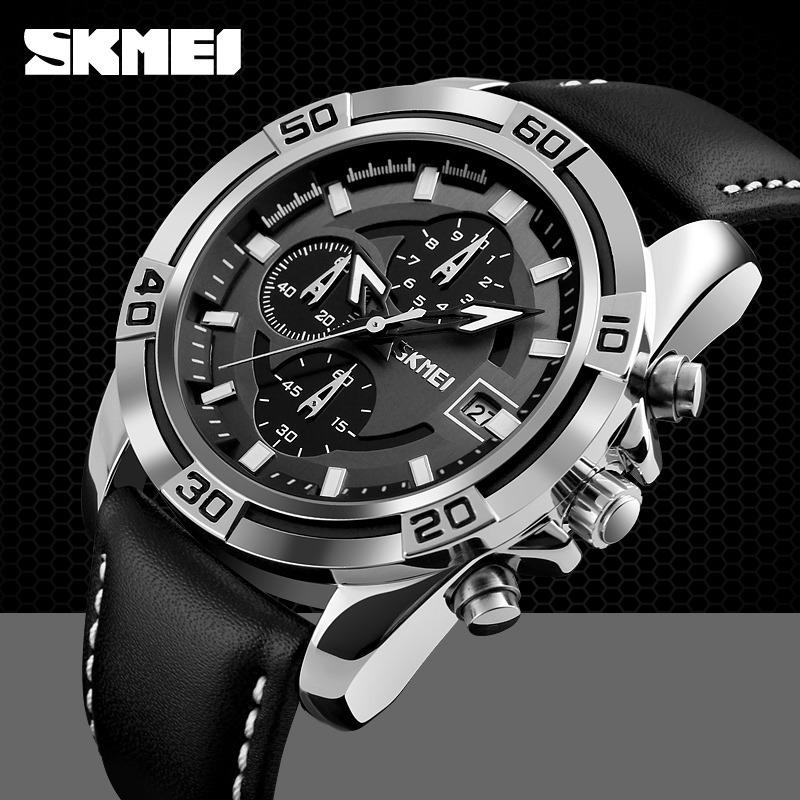 203657f9269 Reloj Skmei 9156 Cronografo + Caja Metalica -   549.00 en Mercado Libre
