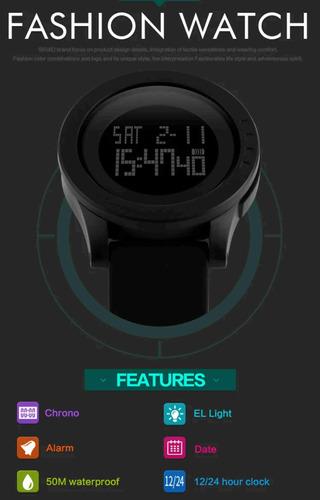 reloj skmei alarma cronometro calendario sumergible fashion