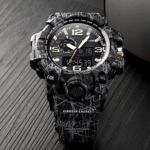 reloj skmei camuflado - sumergible - deportivo- cronometro