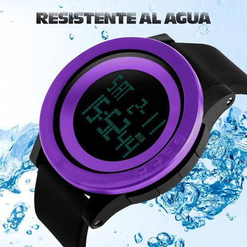 reloj skmei digital minimalista cronometro resiste agua 1142