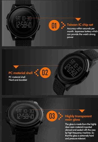 reloj skmei digital sumergible sport cronometro calendario
