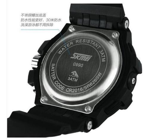 reloj skmei hombre mujer deportivo sumergible luz cronometro