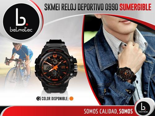 reloj skmei hombre mujer sumergible garantía deportivo dual