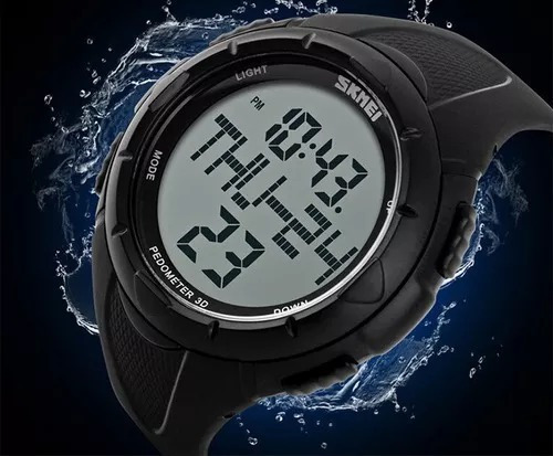 ca32a32e4b93 Reloj Skmei Modelo 1122 Cuenta Pasos - Calorías - Running -   999