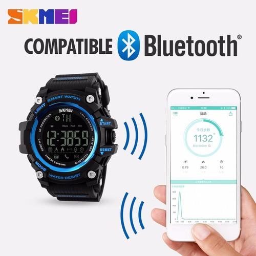 reloj skmei smartwatch,podómetro,kcal, kms, waterproof.