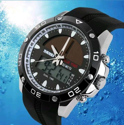 reloj skmei solar mod 1064 - acuático