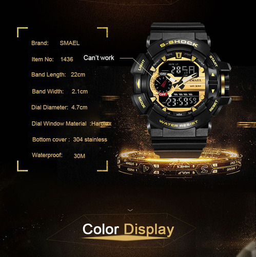 reloj smael super deportivo