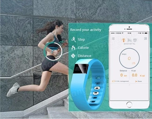 reloj smart band tw64 bluetooth - running - importador