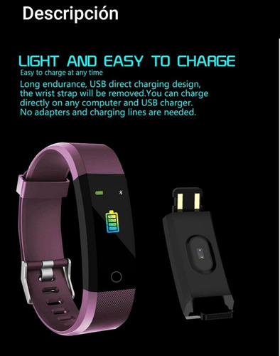 reloj smart inteligente bluetooth sport pulsera fitness gym