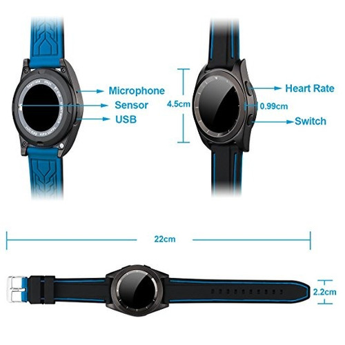 reloj smart sport agua g6 bluetooth pulso deportes s8 iphone