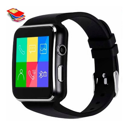 reloj smart watch bluetoot celular x6 a1 u8 cámara tactil y1