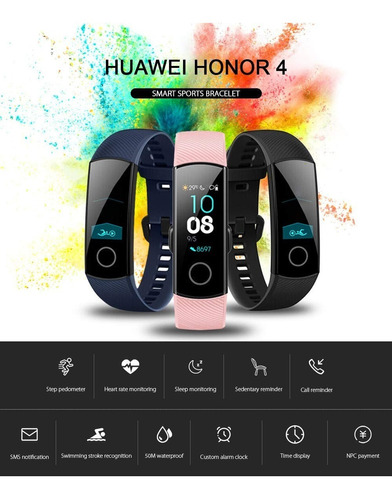 reloj smart watch huawei band 4 monitor