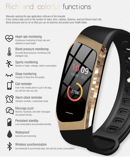 reloj smart watch inteligente e18 bluetooth hombre mujer ros