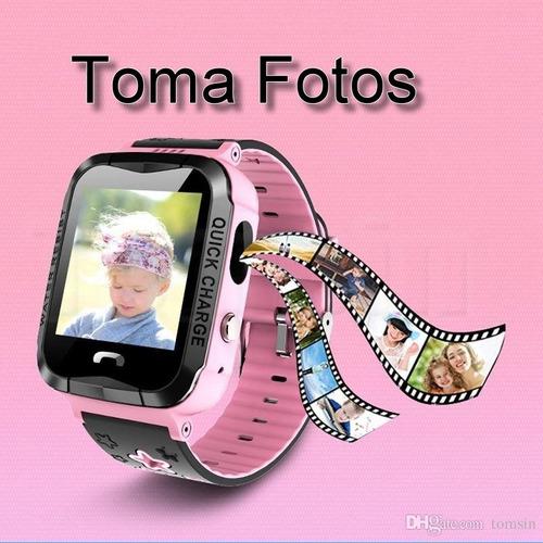 reloj smart watch localizador gps contra agua cámara niños e