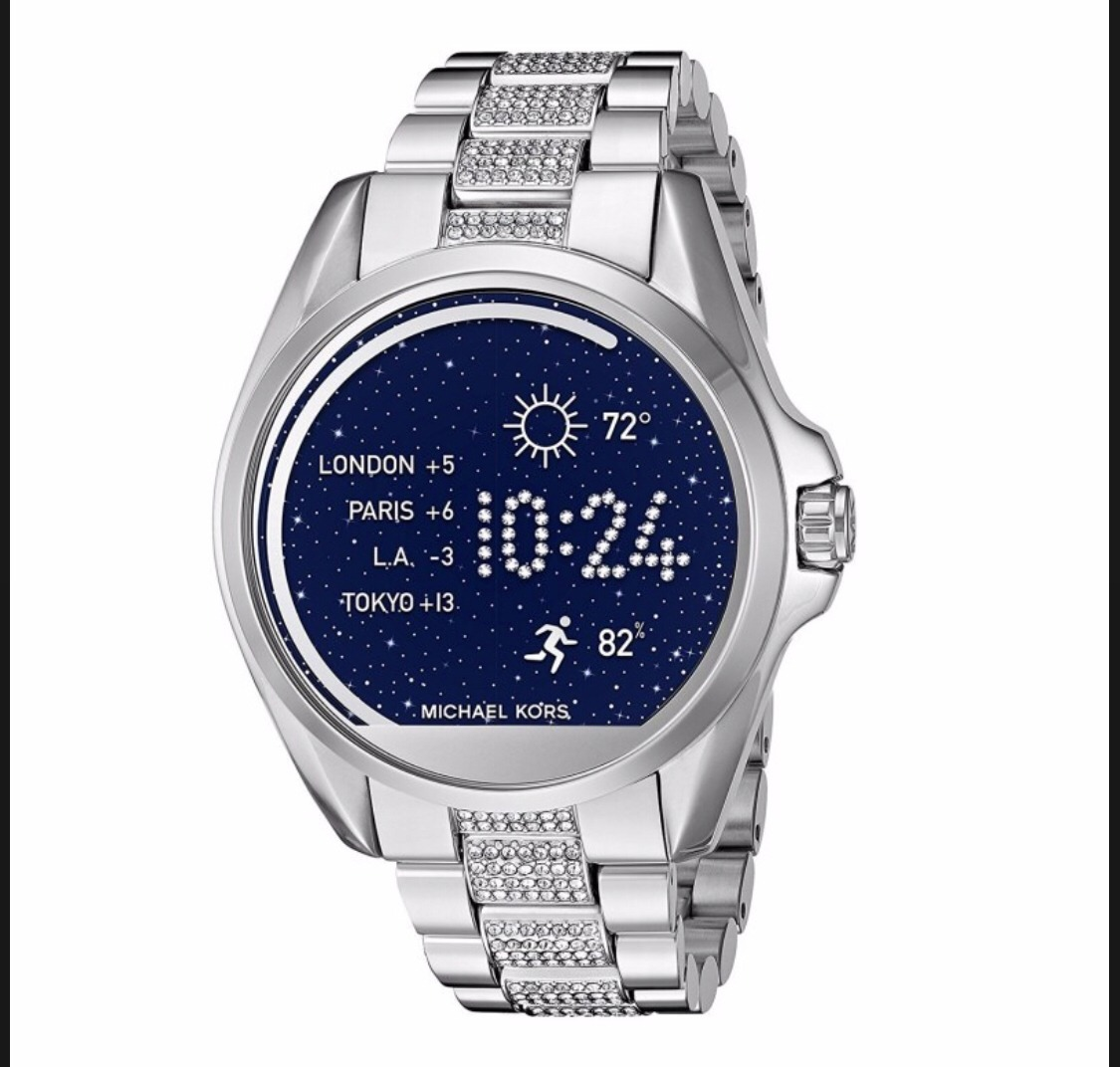 Michael Watch Plateado Smart Brillos Reloj Con Kors H92WDYIE