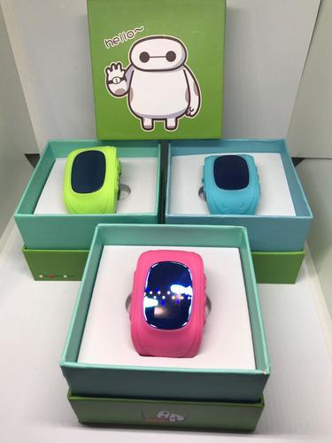 reloj smart watch niño gps rastreador q50 rosa verde azul