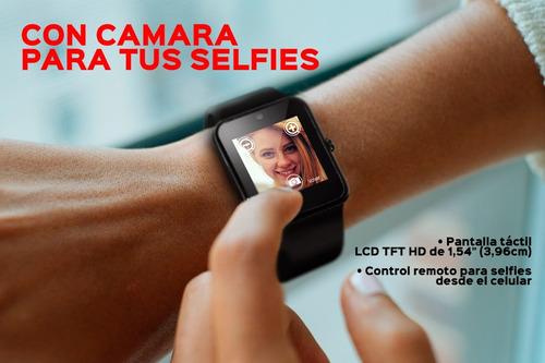 reloj smart watch redes sociales bluetooth sim manos libres