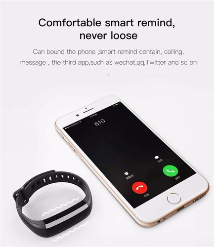 reloj smartband m2 - monitor cardíaco tensiómetro podometro