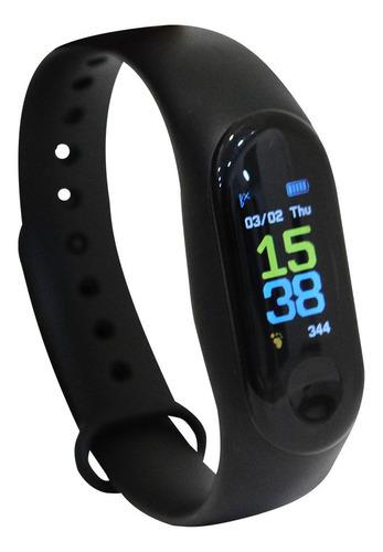 reloj smartband run m3 gold edition ge-sb3 deportista runner