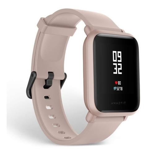reloj smartwatch amazfit bip lite rosado, bateria 45 dias
