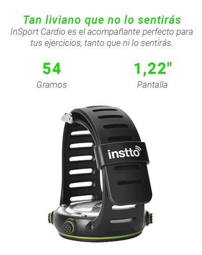 reloj smartwatch deportivo instto heart rate cardio