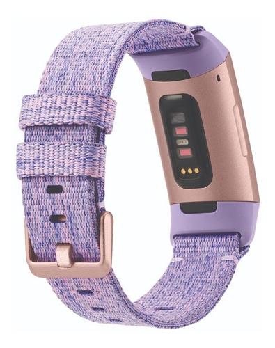 reloj smartwatch fitbit charge 3 fitness (lav/alum/) con nfc