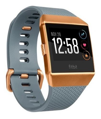 reloj smartwatch fitbit ionic azul + cobre