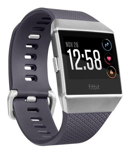 reloj smartwatch fitbit ionic azul gris claro