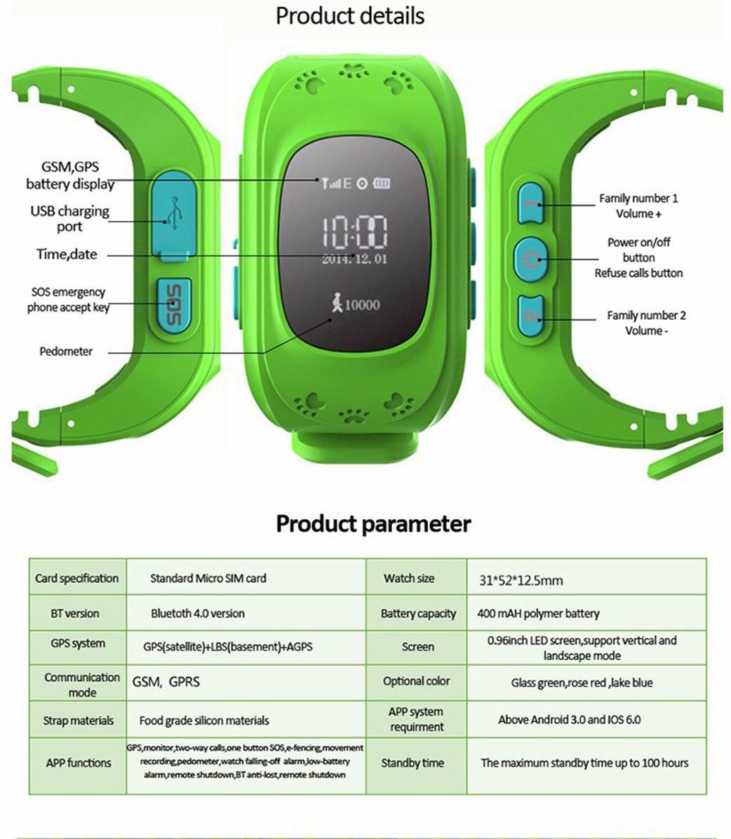 Reloj smartwatch kids gps localizador para ni os 4g - Localizador gps ninos ...