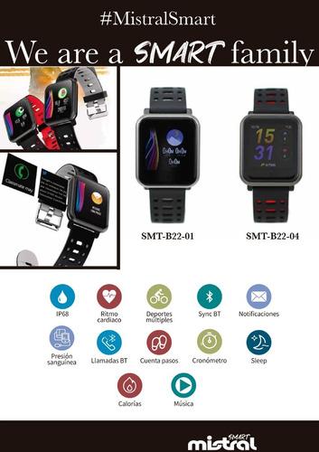 reloj smartwatch mistral cod: smt-b22 bluetooth