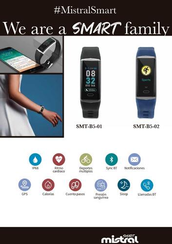 reloj smartwatch mistral cod: smt-b5 gps bluetooth novedad!