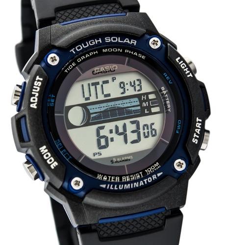 reloj solar casio cod: w-s210h-1a fase lunar joyeria esponda