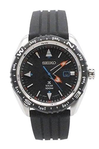 reloj solar de la correa de goma de seiko sne423 mens prosp