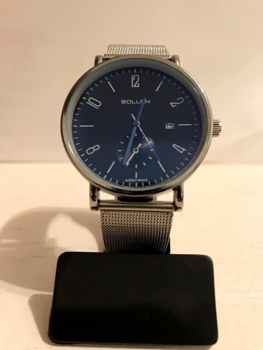 f6bc71763c7d reloj sollen elegante con fechador precio por menor. Cargando zoom.