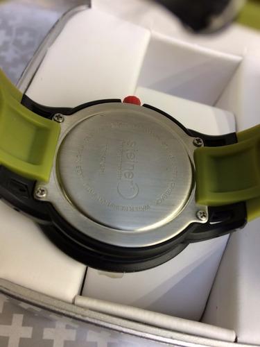 reloj steiner unisex verde con negro y rosa