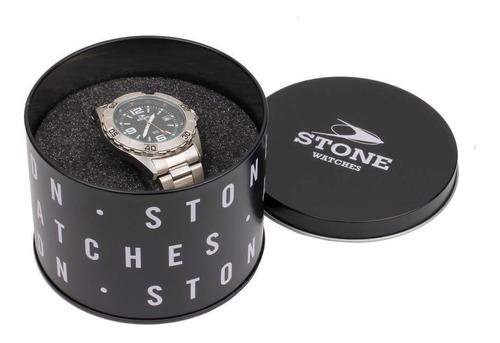 reloj stone analogo hombre st1041 cuero agente of. liniers
