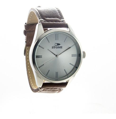reloj stone hombre analogo malla cuero garantia oficial 1060
