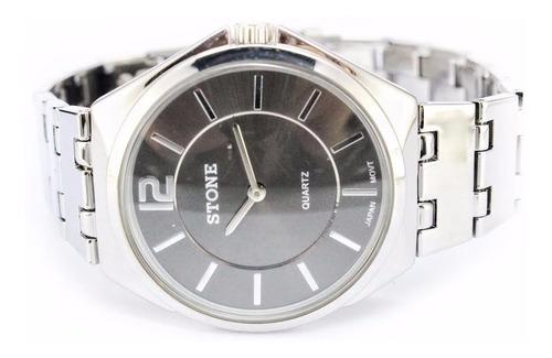 reloj stone modelo sto-959 g quartz acero garant oficial 12m