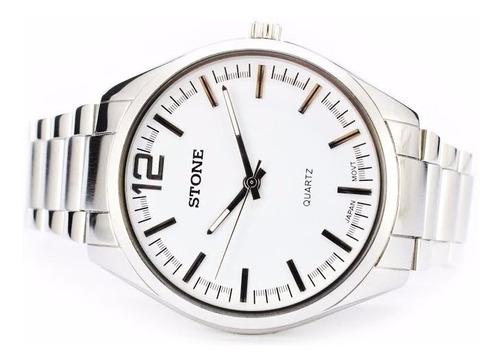 reloj stone modelo sto-964 b quartz acero garant oficial 12m