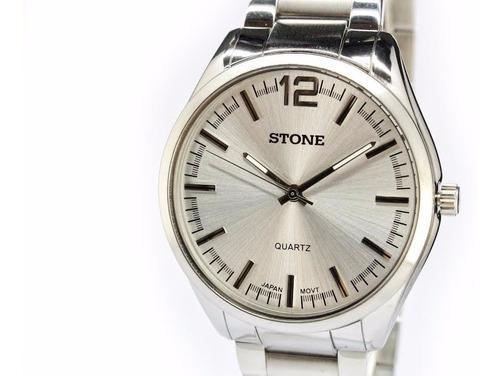 reloj stone modelo sto-964 quartz acero garantia oficial 12m
