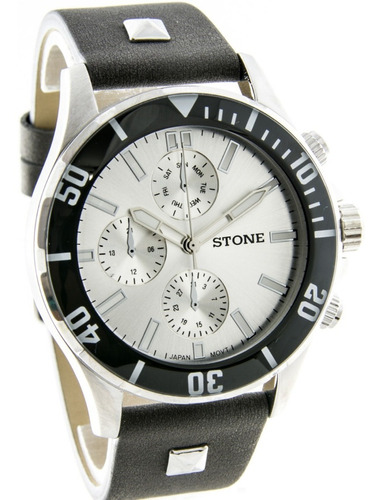 reloj stone quartz acero cuero original garantia oficial 12m