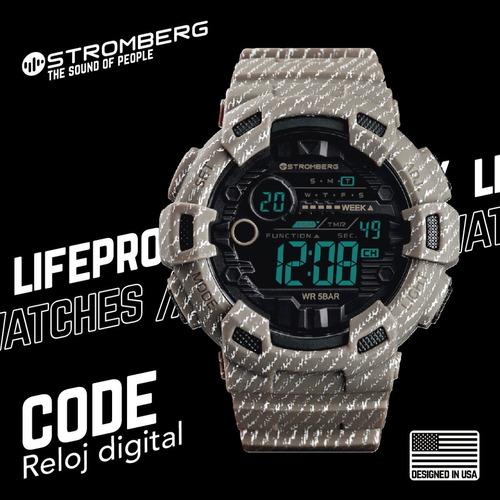 reloj stromberg code sumergible digital desierto adulto