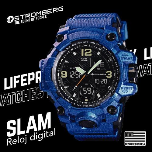 reloj stromberg slam sumergible dual ultra-violeta