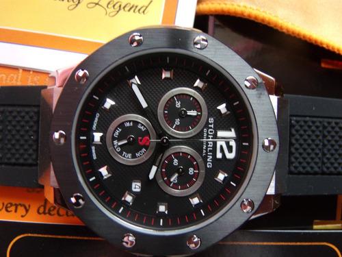 reloj stuhrling original, crono suizo, para hombre 1 sp0