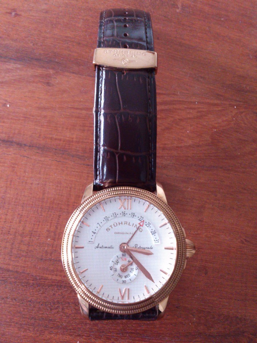 f37b78604b32 Reloj Stuhrling Retrograde Rose Gold-plated -   5.000
