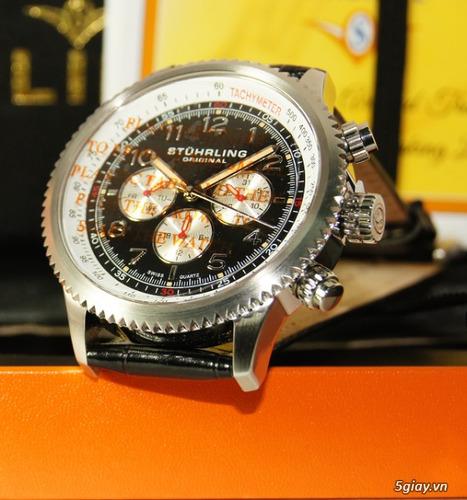 reloj stuhrling suizo concorso piel cristal krysterna