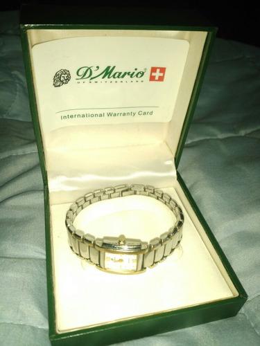 reloj suizo acero y cristal safiro d' mario